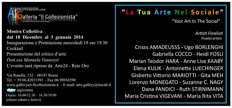 "Invitation to the exhibition Opening ""Your Art In The Social"""
