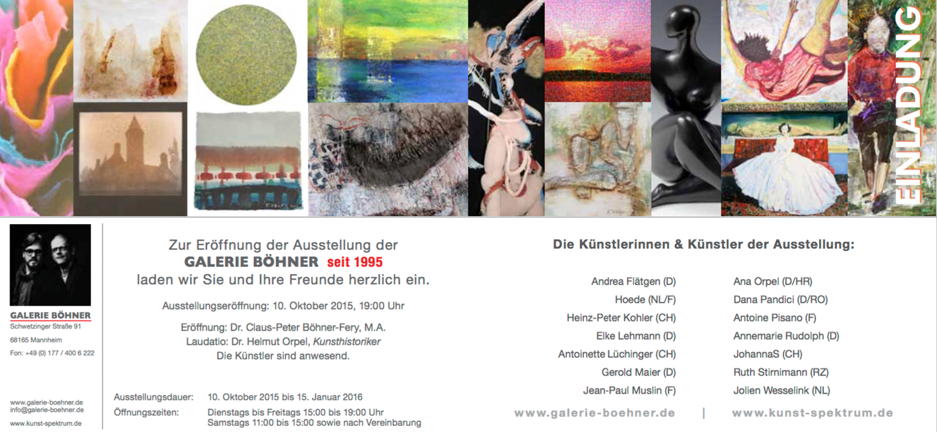Invitation to the next exhibition exhibition opening