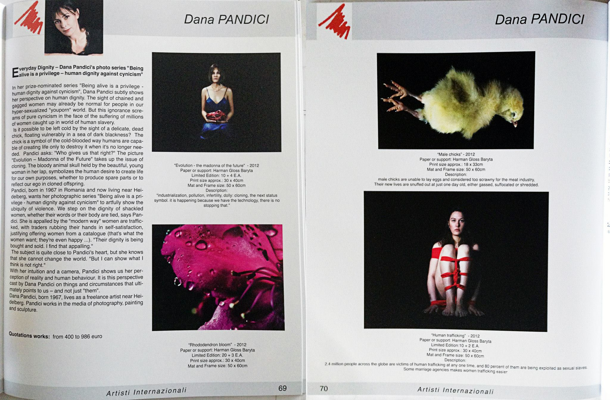 Publication: International Artist Catalog 4th edition 2014, Roma / Italy